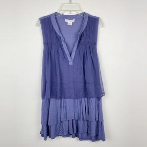 Anthropologie x Clu Falda Blue Tiered Tank Top S